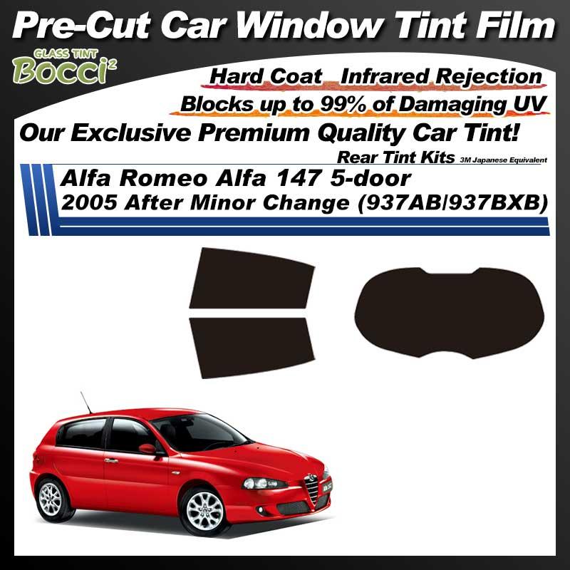 Alfa Romeo Alfa 147 5-door 2005 After Minor Change (937AB/937BXB) Pre-Cut Car Tint Film UV IR 3M Japanese Equivalent
