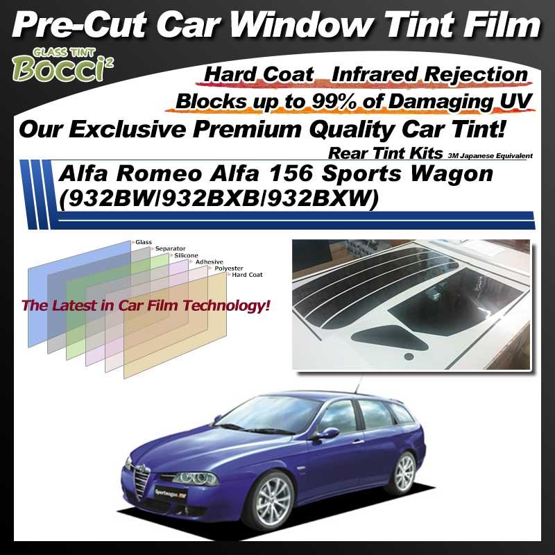 Alfa Romeo Alfa 156 Sports Wagon (932BW/932BXB/932BXW) Pre-Cut Car Tint Film UV IR 3M Japanese Equivalent