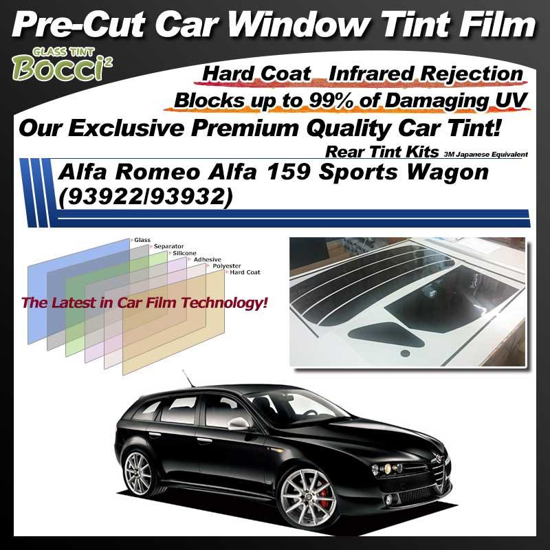 Alfa Romeo Alfa 159 Sports Wagon (93922/93932) Pre-Cut Car Tint Film UV IR 3M Japanese Equivalent