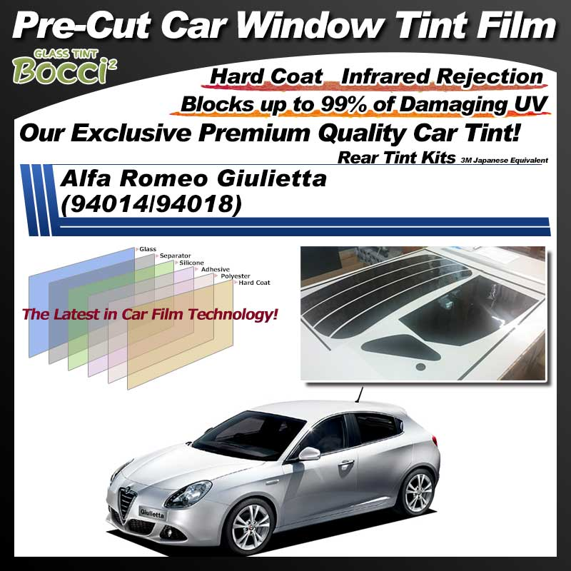 Alfa Romeo Giulietta (94014/94018) Pre-Cut Car Tint Film UV IR 3M Japanese Equivalent