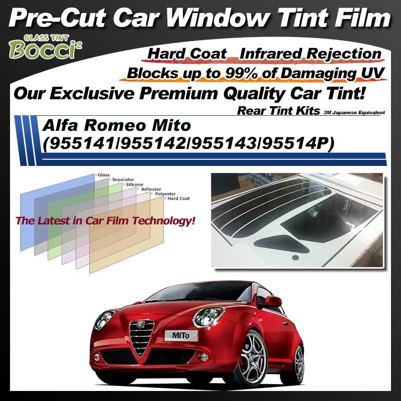 Alfa Romeo Mito (955141/955142/955143/95514P) Pre-Cut Car Tint Film UV IR 3M Japanese Equivalent