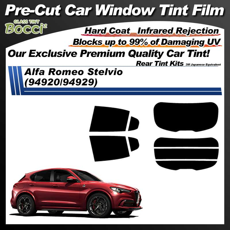 Alfa Romeo Stelvio (94920/94929) Pre-Cut Car Tint Film UV IR 3M Japanese Equivalent