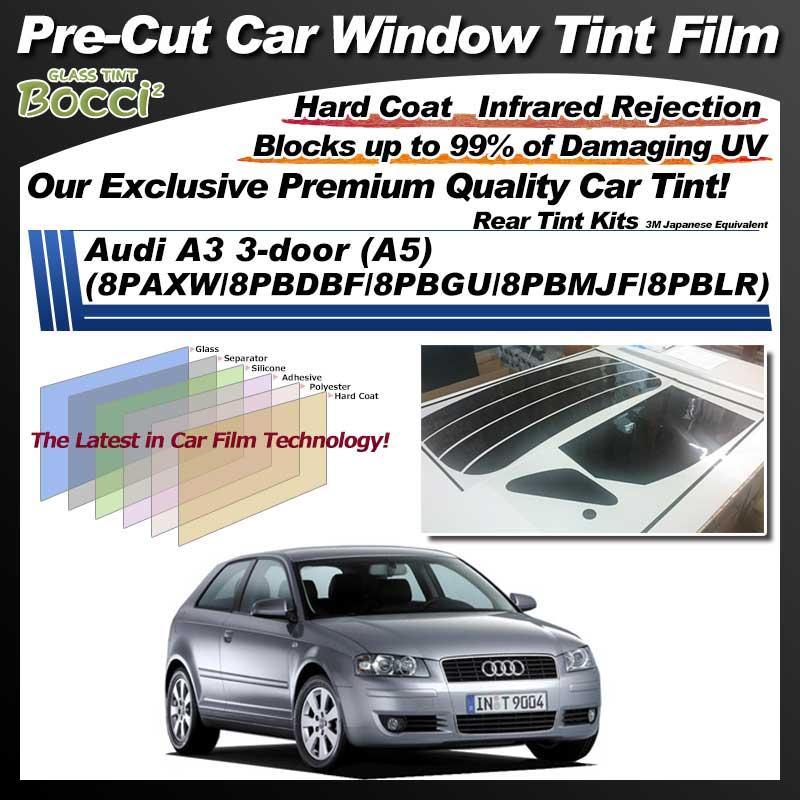 Audi A3 3-door (A5) (8PAXW/8PBDBF/8PBGU/8PBMJF/8PBLR) Pre-Cut Car Tint Film UV IR 3M Japanese Equivalent