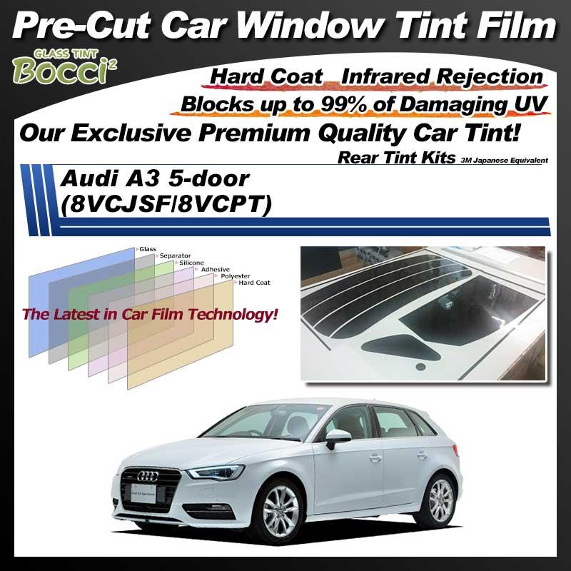 Audi A3 5-door (8VCJSF/8VCPT) Pre-Cut Car Tint Film UV IR 3M Japanese Equivalent