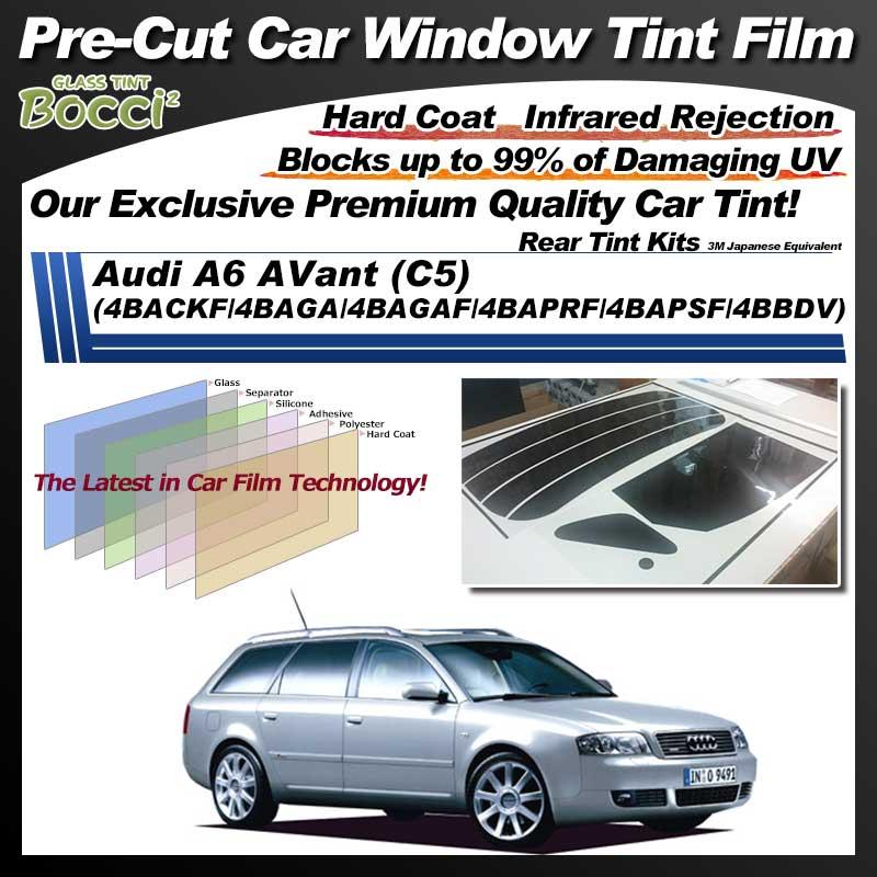 Audi A6 AVant (C5) (4BACKF/4BAGA/4BAGAF/4BAPRF/4BAPSF/4BBDV) Pre-Cut Car Tint Film UV IR 3M Japanese Equivalent