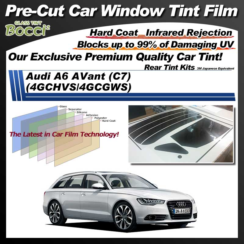 Audi A6 AVant (C7) (4GCHVS/4GCGWS) Pre-Cut Car Tint Film UV IR 3M Japanese Equivalent