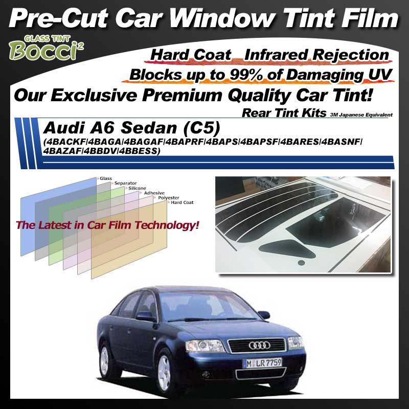 Audi A6 Sedan (C5) (4BACKF/4BAGA/4BAGAF/4BAPRF/4BAPS/4BAPSF/4BARES/4BASNF/4BAZAF/4BBDV/4BBESS) Pre-Cut Car Tint Film UV IR 3M Japanese Equivalent