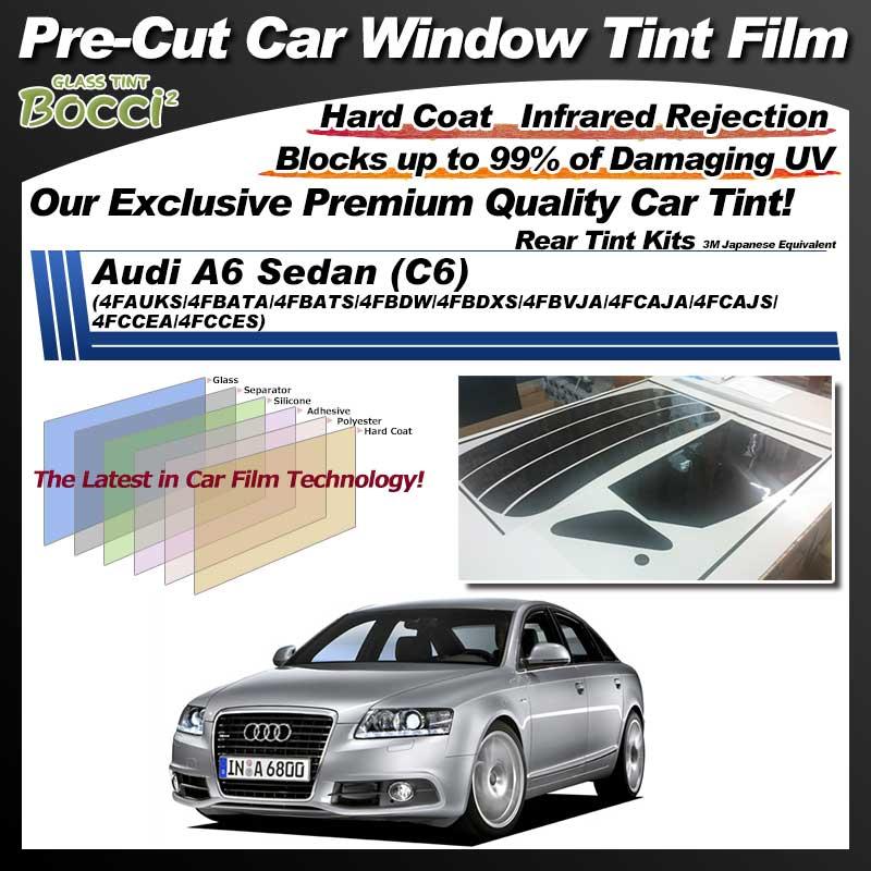 Audi A6 Sedan (C6) (4FAUKS/4FBATA/4FBATS/4FBDW/4FBDXS/4FBVJA/4FCAJA/4FCAJS/4FCCEA/4FCCES) Pre-Cut Car Tint Film UV IR 3M Japanese Equivalent