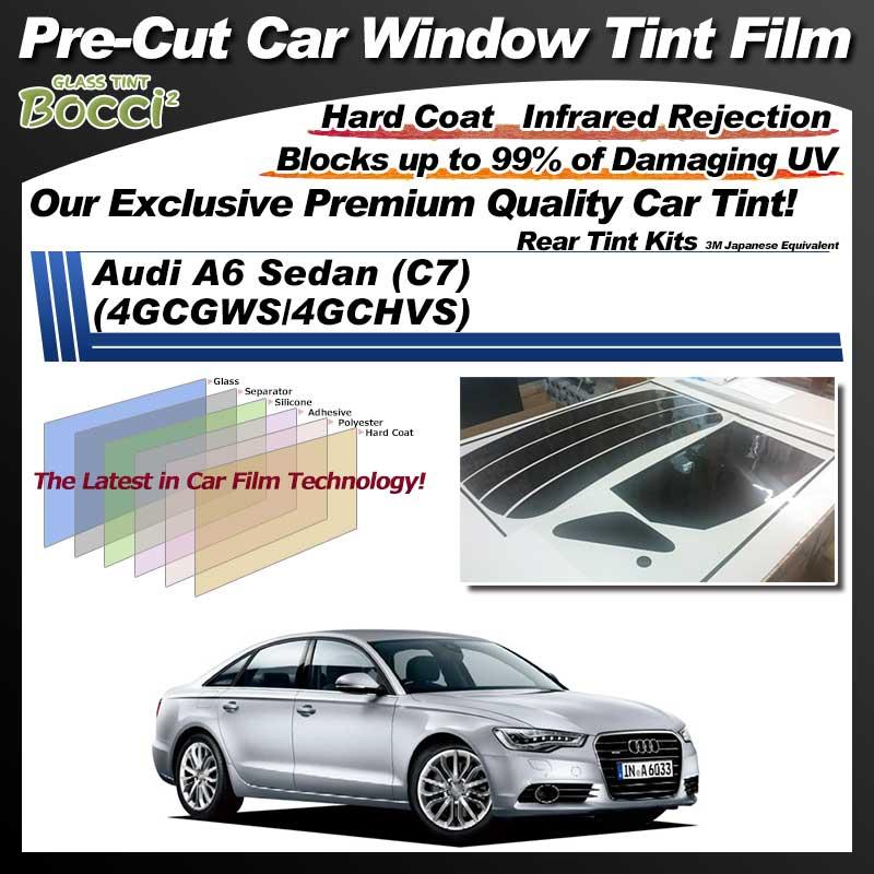 Audi A6 Sedan (C7) (4GCGWS/4GCHVS) Pre-Cut Car Tint Film UV IR 3M Japanese Equivalent