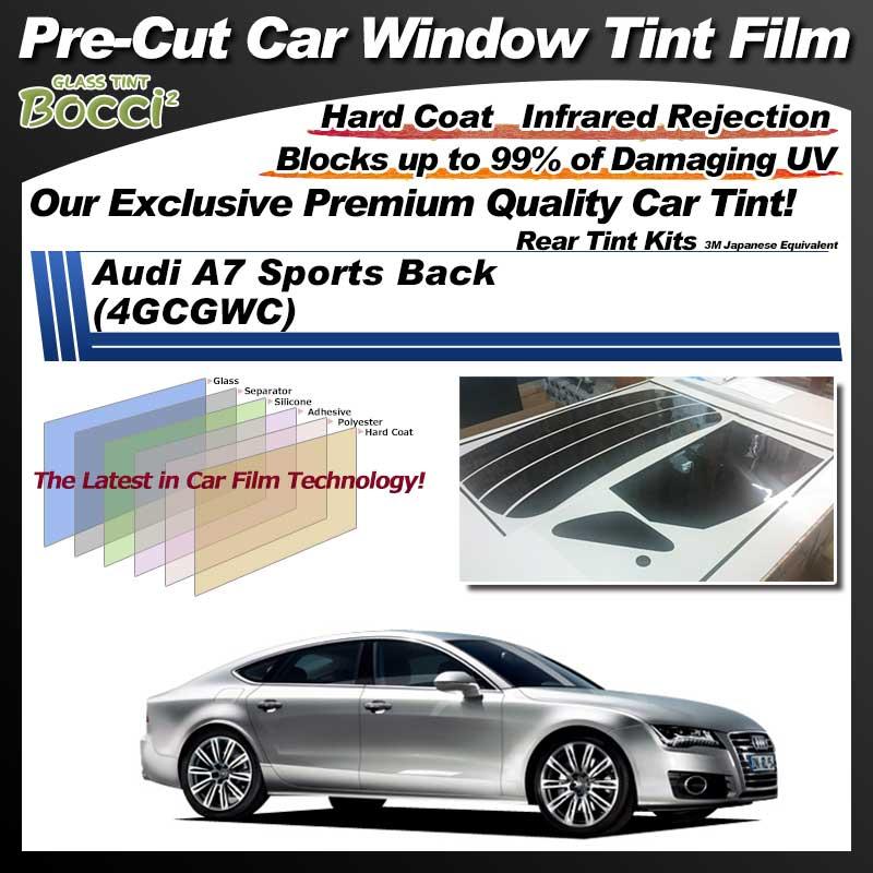 Audi A7 Sports Back (4GCGWC) Pre-Cut Car Tint Film UV IR 3M Japanese Equivalent