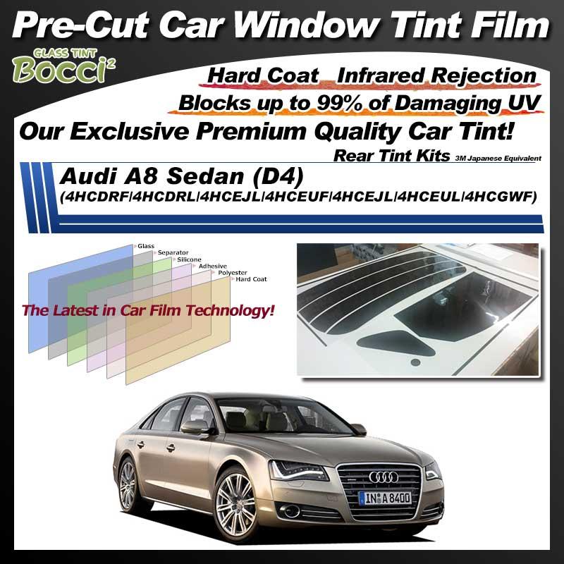 Audi A8 Sedan (D4) (4HCDRF/4HCDRL/4HCEJL/4HCEUF/4HCEJL/4HCEUL/4HCGWF) Pre-Cut Car Tint Film UV IR 3M Japanese Equivalent