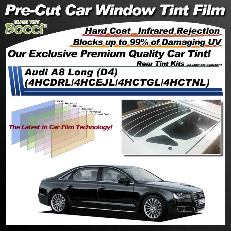 Audi A8 Long (D4) (4HCDRL/4HCEJL/4HCTGL/4HCTNL) Pre-Cut Car Tint Film UV IR 3M Japanese Equivalent