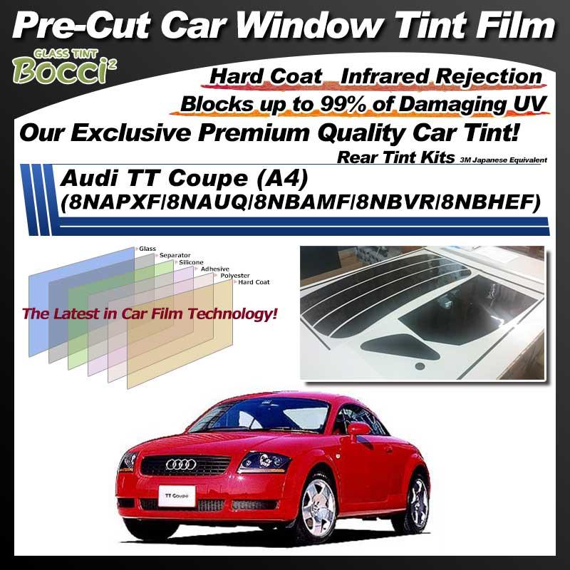 Audi TT Coupe (A4) (8NAPXF/8NAUQ/8NBAMF/8NBVR/8NBHEF) Pre-Cut Car Tint Film UV IR 3M Japanese Equivalent
