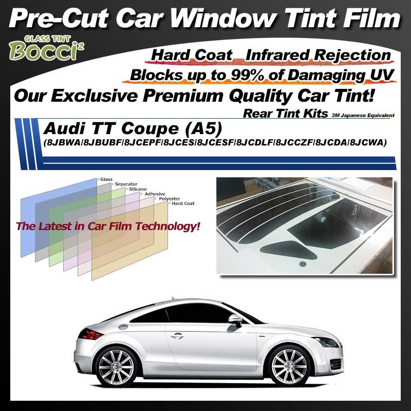 Audi TT Coupe (A5) (8JBWA/8JBUBF/8JCEPF/8JCES/8JCESF/8JCDLF/8JCCZF/8JCDA/8JCWA) Pre-Cut Car Tint Film UV IR 3M Japanese Equivalent
