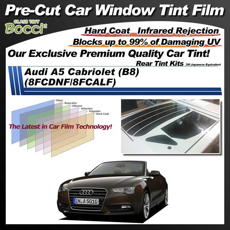 Audi A5 Cabriolet (B8) (8FCDNF/8FCALF) Pre-Cut Car Tint Film UV IR 3M Japanese Equivalent