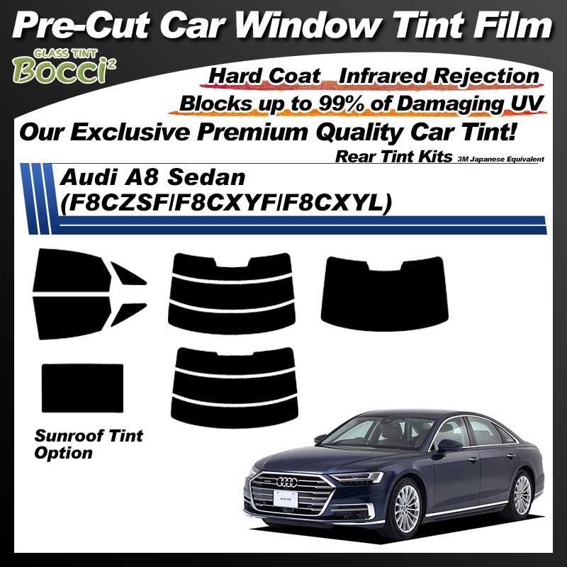 Audi A8 Sedan (F8CZSF/F8CXYF/F8CXYL) With Sunroof Pre-Cut Car Tint Film UV IR 3M Japanese Equivalent