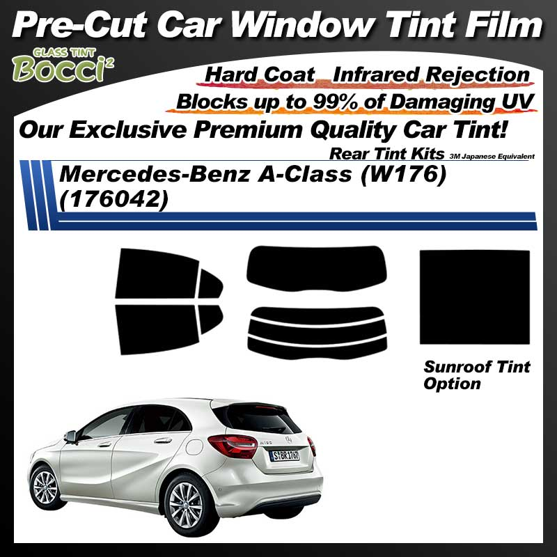 Mercedes-Benz A-Class (W176) (176042) With Sunroof Pre-Cut Car Tint Film UV IR 3M Japanese Equivalent