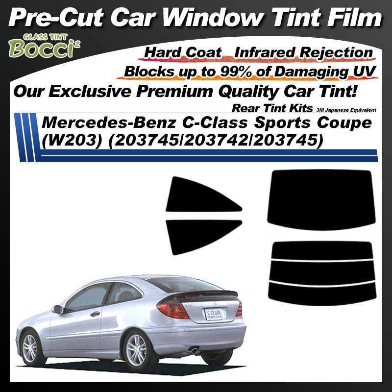 Mercedes-Benz C-Class Sports Coupe (W203) (203745/203742/203745) Pre-Cut Car Tint Film UV IR 3M Japanese Equivalent