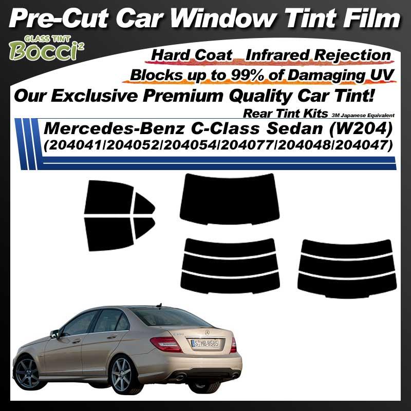 Mercedes-Benz C-Class Sedan (W204) (204041/204052/204054/204077/204048/204047) Pre-Cut Car Tint Film UV IR 3M Japanese Equivalent