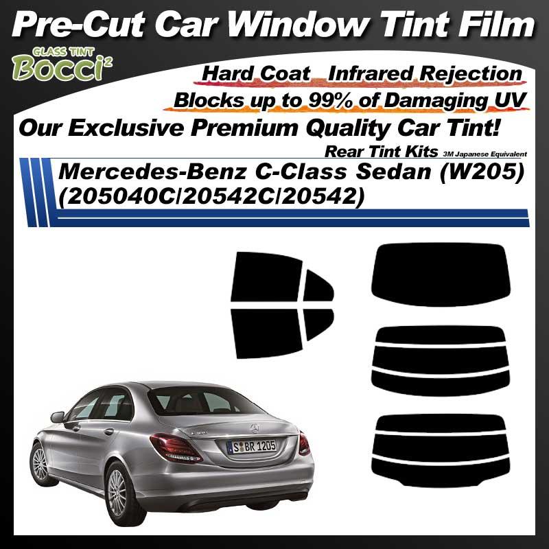 Mercedes-Benz C-Class Sedan (W205) (205040C/20542C/20542) Pre-Cut Car Tint Film UV IR 3M Japanese Equivalent