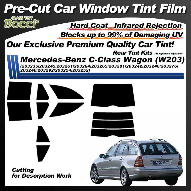 Mercedes-Benz C-Class Wagon (W203) (203235/203245/203261/203264/203265/203281/203242/203246/203276/203240/203292/203254/203252) Pre-Cut Car Tint Film UV IR 3M Japanese Equivalent