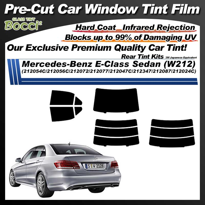 Mercedes-Benz E-Class Sedan (W212) (212054C/212056C/212072/212077/212047C/212347/212087/212024C) Pre-Cut Car Tint Film UV IR 3M Japanese Equivalent