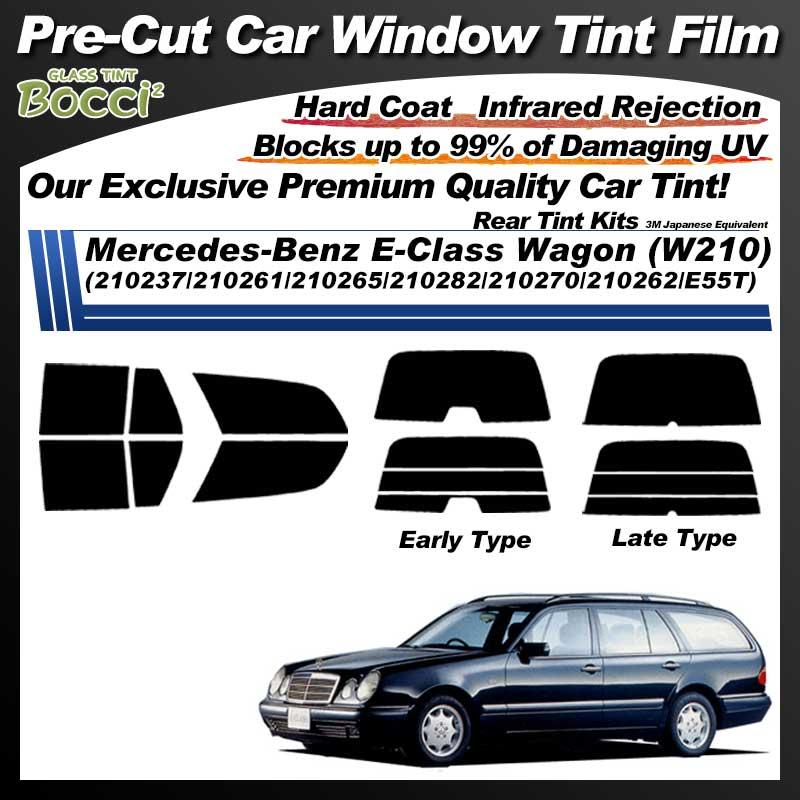 Mercedes-Benz E-Class Wagon (W210) (210237/210261/210265/210282/210270/210262/E55T) Pre-Cut Car Tint Film UV IR 3M Japanese Equivalent