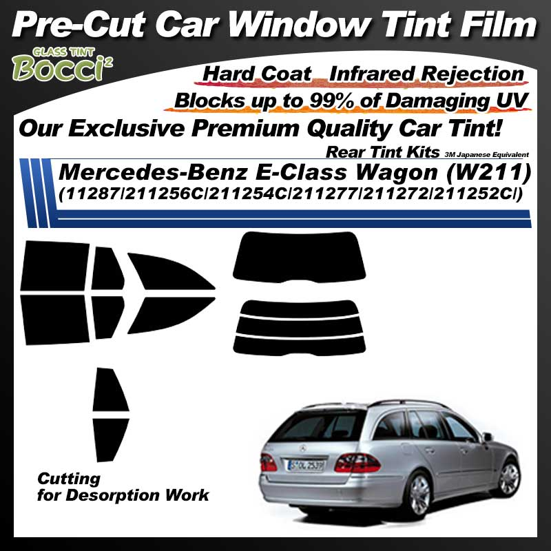 Mercedes-Benz E-Class Wagon (W211) (11287/211256C/211254C/211277/211272/211252C/) Pre-Cut Car Tint Film UV IR 3M Japanese Equivalent