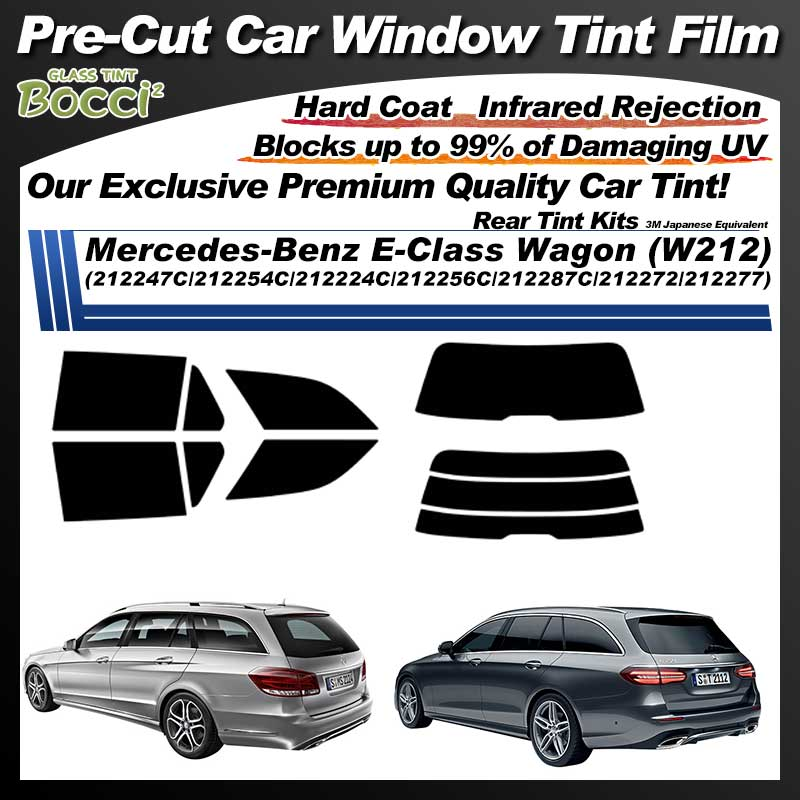 Mercedes-Benz E-Class Wagon (W212) (212247C/212254C/212224C/212256C/212287C/212272/212277) Pre-Cut Car Tint Film UV IR 3M Japanese Equivalent