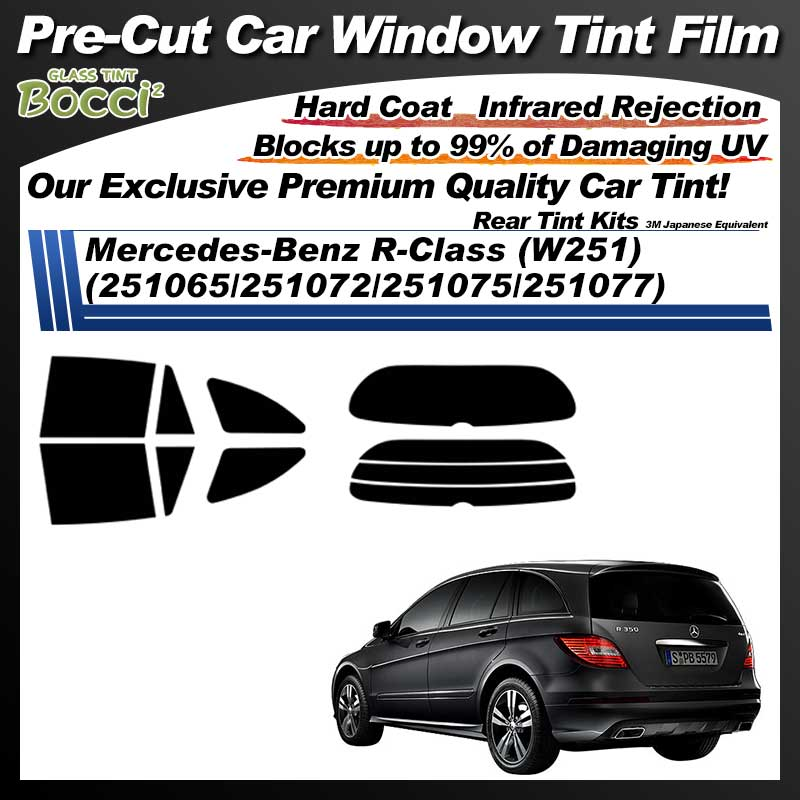 Mercedes-Benz R-Class (W251) (251065/251072/251075/251077) Pre-Cut Car Tint Film UV IR 3M Japanese Equivalent