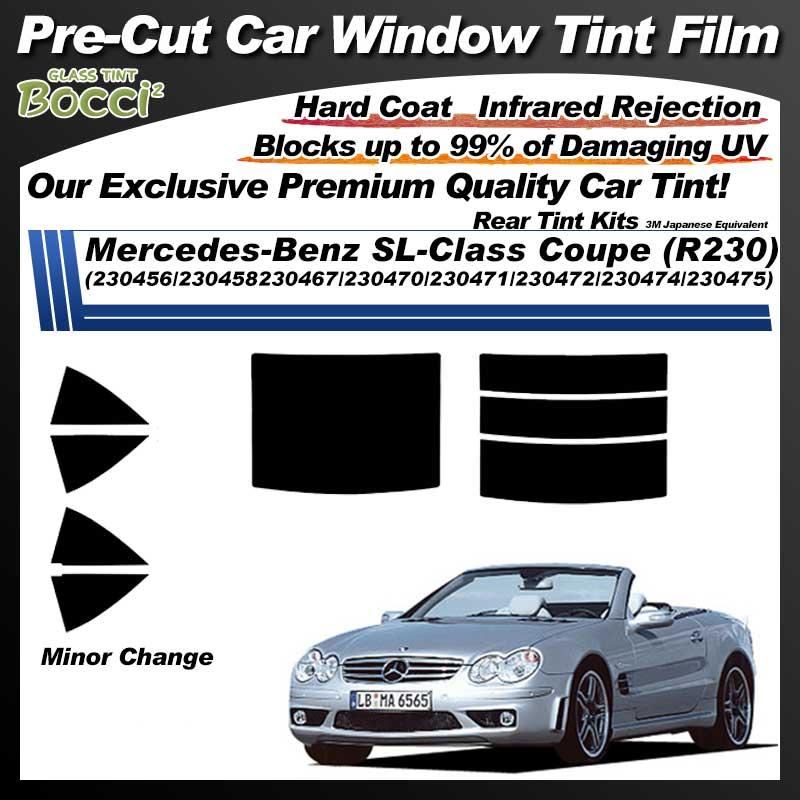 Mercedes-Benz SL-Class Coupe (R230) (230456/230458230467/230470/230471/230472/230474/230475) Pre-Cut Car Tint Film UV IR 3M Japanese Equivalent