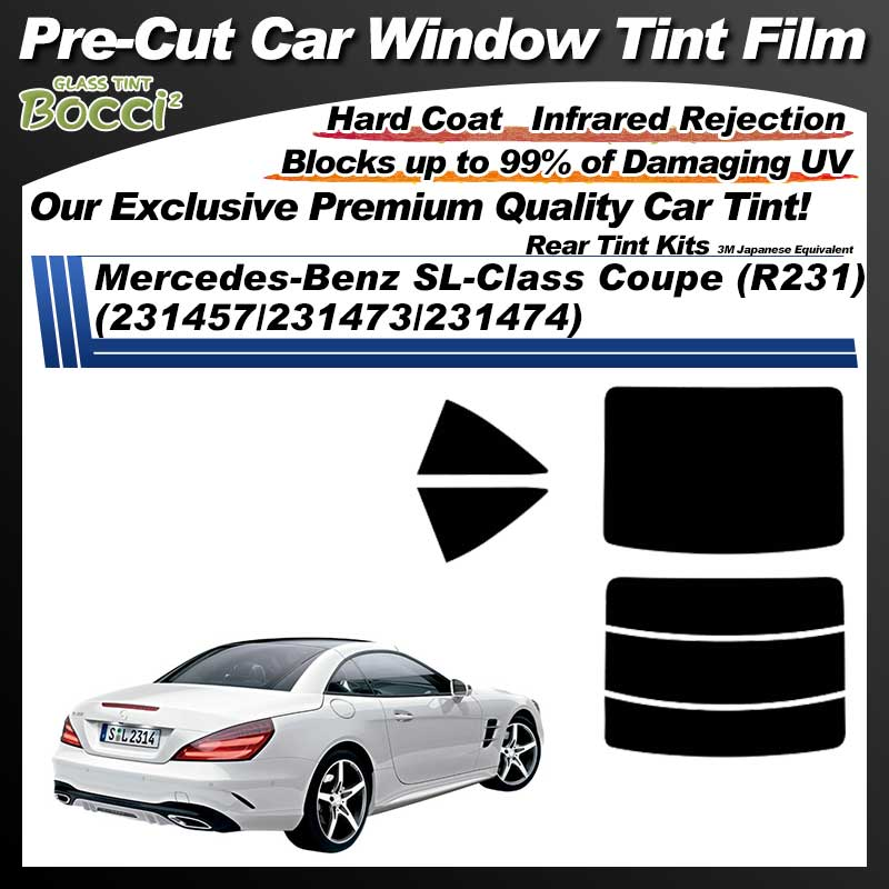 Mercedes-Benz SL-Class Coupe (R231) (231457/231473/231474) Pre-Cut Car Tint Film UV IR 3M Japanese Equivalent