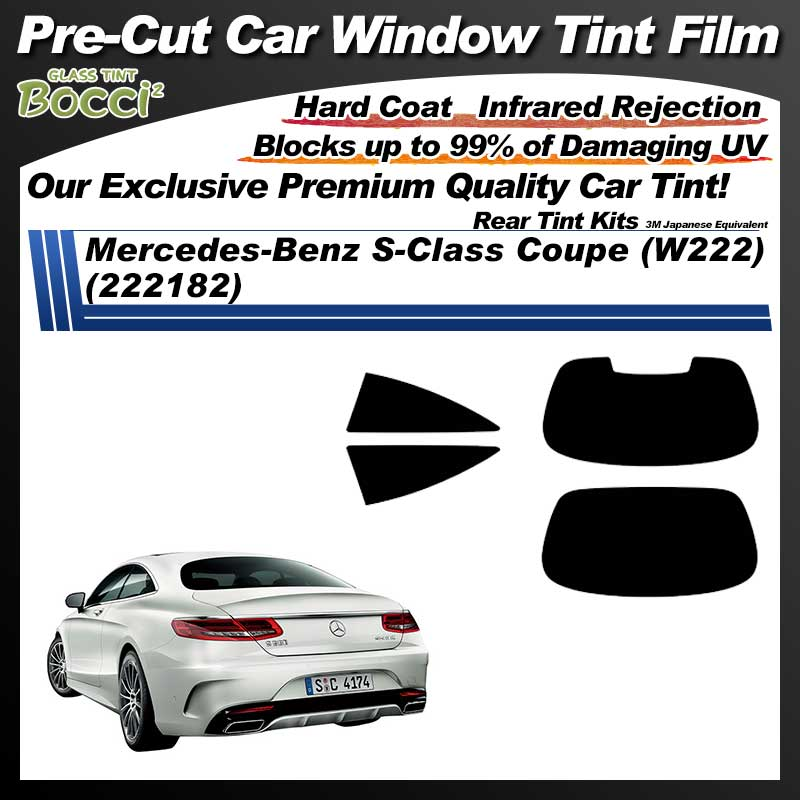 Mercedes-Benz S-Class Coupe (W222) (222182) Pre-Cut Car Tint Film UV IR 3M Japanese Equivalent