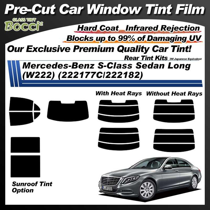 Mercedes-Benz S-Class Sedan Long (W222) (222177C/222182) With Sunroof Pre-Cut Car Tint Film UV IR 3M Japanese Equivalent