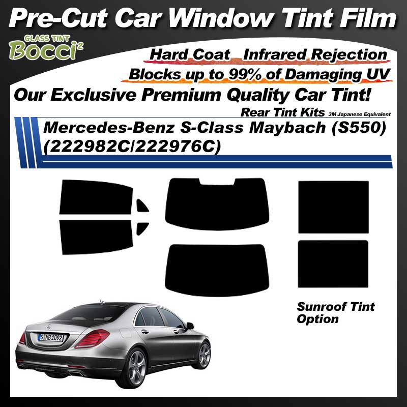 Mercedes-Benz S-Class Maybach (S550) (222982C/222976C) With Sunroof Pre-Cut Car Tint Film UV IR 3M Japanese Equivalent