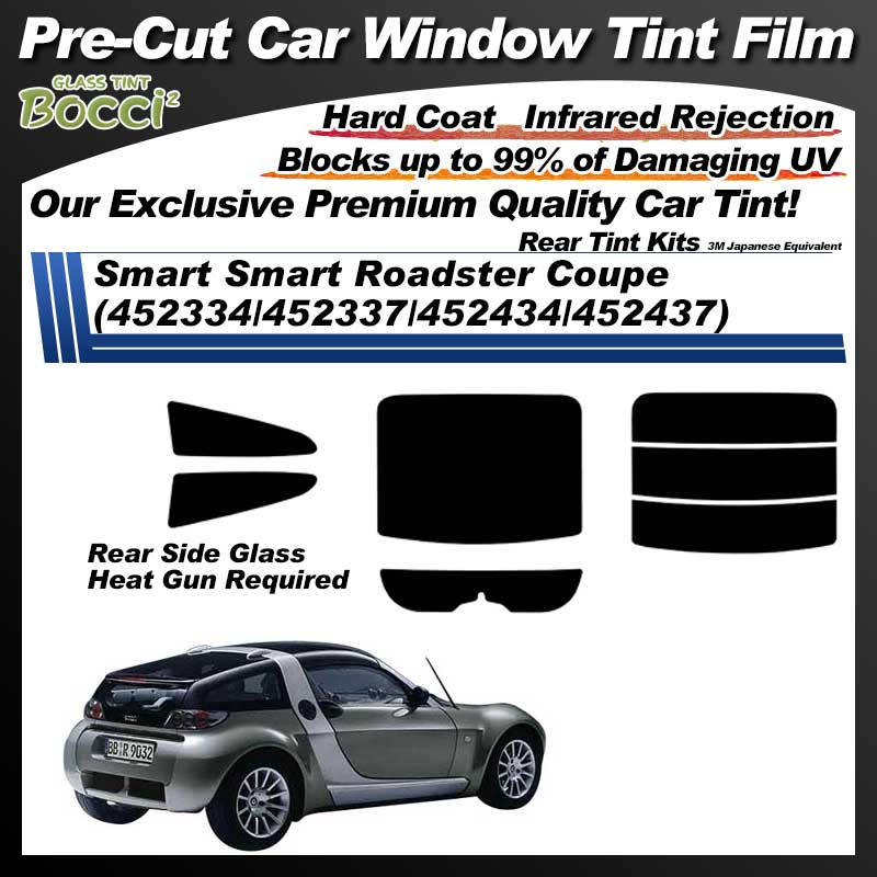 Smart Smart Roadster Coupe (452334/452337/452434/452437) Pre-Cut Car Tint Film UV IR 3M Japanese Equivalent