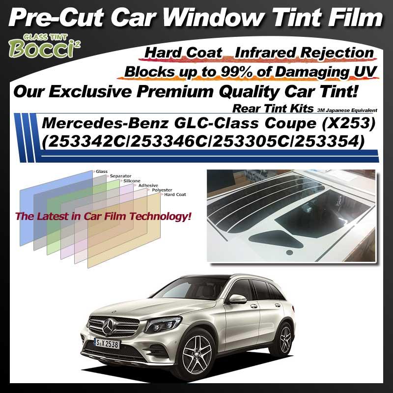 Mercedes-Benz GLC-Class Coupe (X253) (253342C/253346C/253305C/253354) Pre-Cut Car Tint Film UV IR 3M Japanese Equivalent
