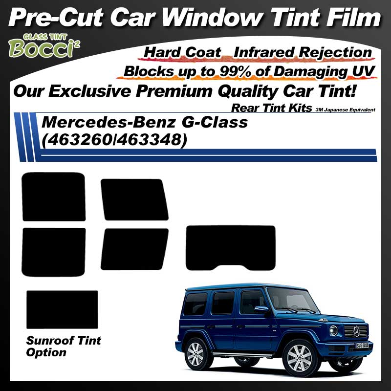 Mercedes-Benz G-Class (463260/463348) With Sunroof Pre-Cut Car Tint Film UV IR 3M Japanese Equivalent