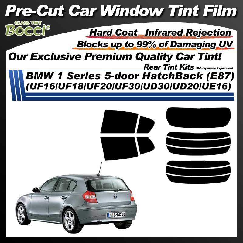 BMW 1 Series 5-door HatchBack (E87) (UF16/UF18/UF20/UF30/UD30/UD20/UE16) Pre-Cut Car Tint Film UV IR 3M Japanese Equivalent