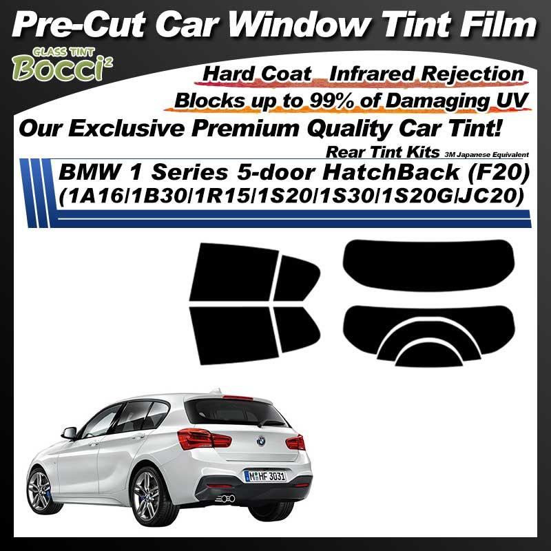 BMW 1 Series 5-door HatchBack (F20) (1A16/1B30/1R15/1S20/1S30/1S20G/JC20) Pre-Cut Car Tint Film UV IR 3M Japanese Equivalent