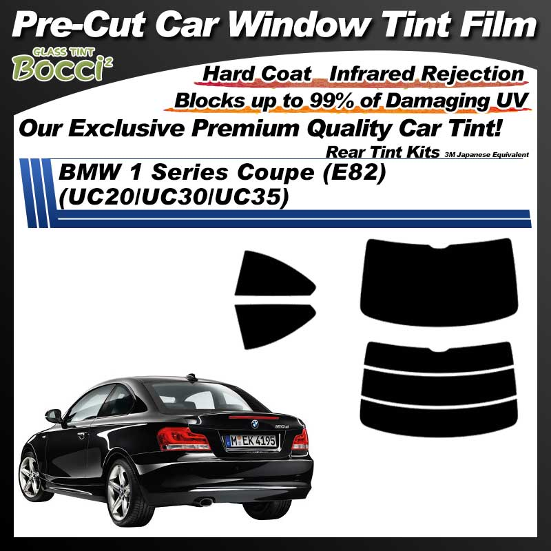 BMW 1 Series Coupe (E82) (UC20/UC30/UC35) Pre-Cut Car Tint Film UV IR 3M Japanese Equivalent
