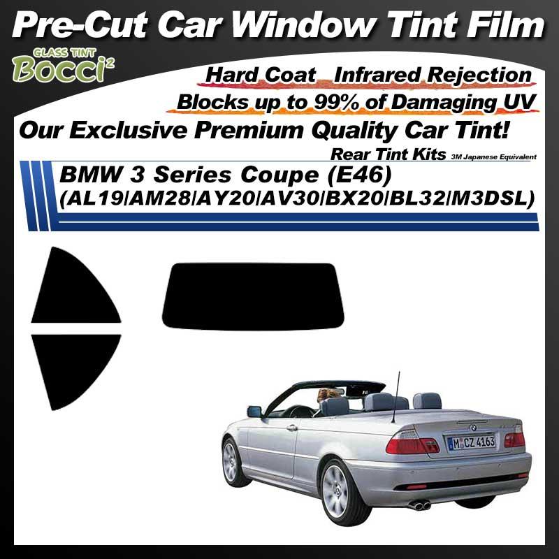 BMW 3 Series Coupe (E46) (AL19/AM28/AY20/AV30/BX20/BL32/M3DSL) Pre-Cut Car Tint Film UV IR 3M Japanese Equivalent