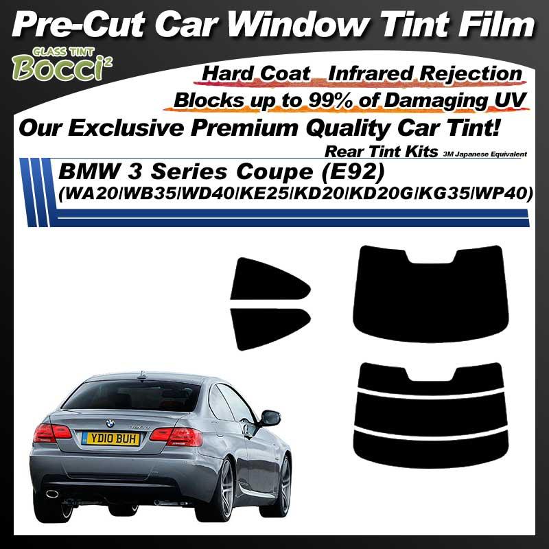 BMW 3 Series Coupe (E92) (WA20/WB35/WD40/KE25/KD20/KD20G/KG35/WP40) Pre-Cut Car Tint Film UV IR 3M Japanese Equivalent
