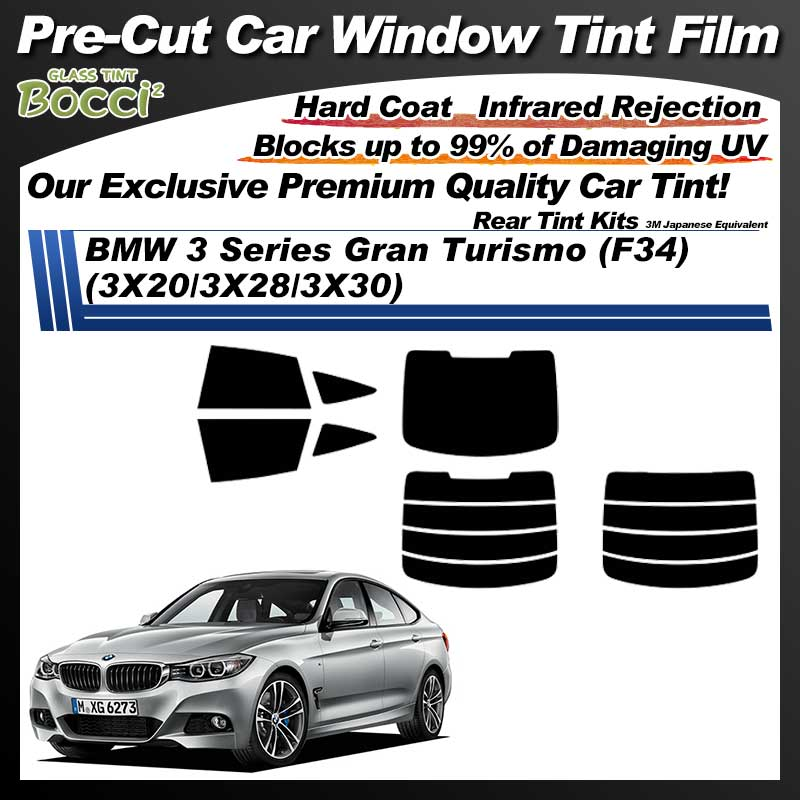 BMW 3 Series Gran Turismo (F34) (3X20/3X28/3X30) Pre-Cut Car Tint Film UV IR 3M Japanese Equivalent