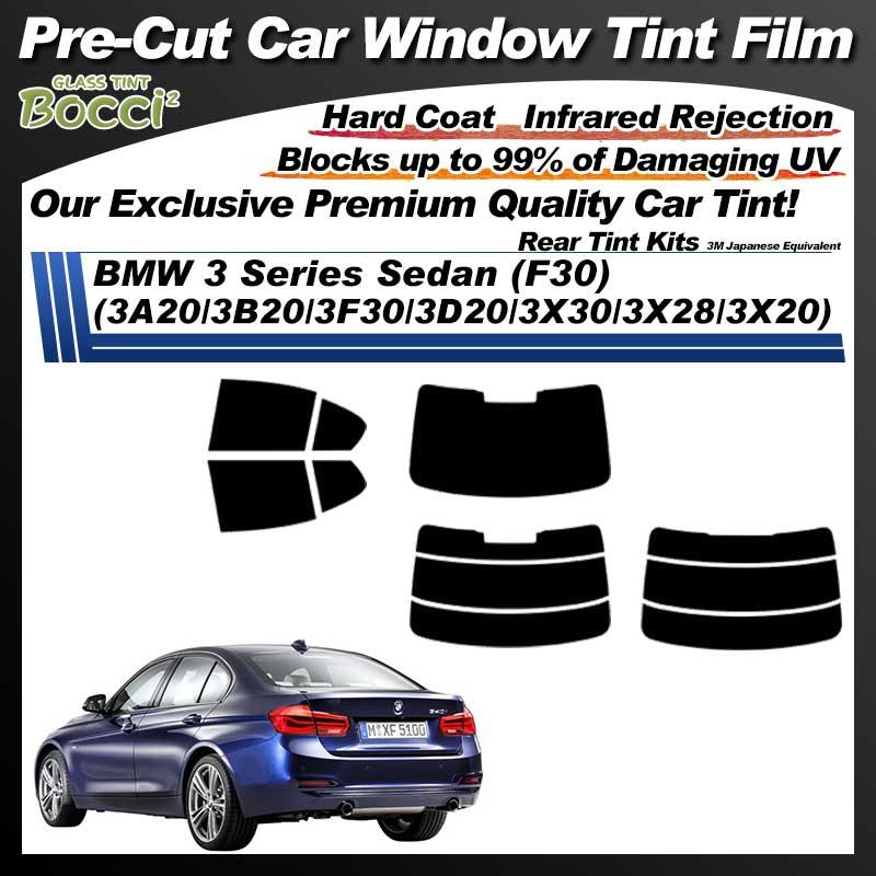 BMW 3 Series Sedan (F30) (3A20/3B20/3F30/3D20/3X30/3X28/3X20) Pre-Cut Car Tint Film UV IR 3M Japanese Equivalent