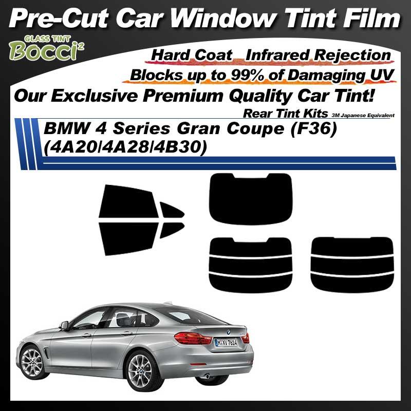 BMW 4 Series Gran Coupe (F36) (4A20/4A28/4B30) Pre-Cut Car Tint Film UV IR 3M Japanese Equivalent