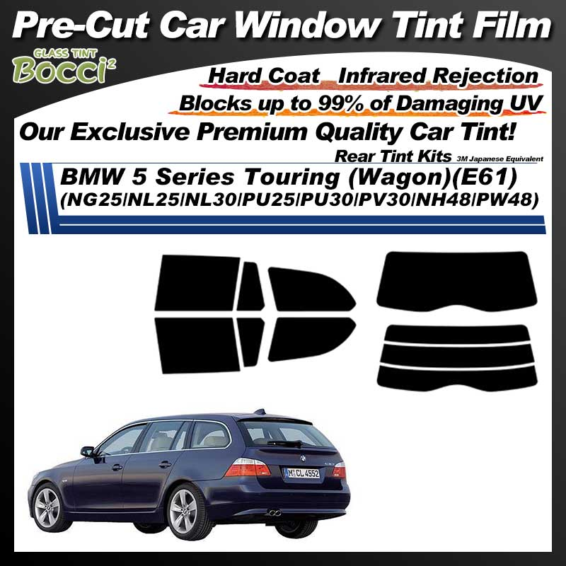 BMW 5 Series Touring (Wagon)(E61) (NG25/NL25/NL30/PU25/PU30/PV30/NH48/PW48) Pre-Cut Car Tint Film UV IR 3M Japanese Equivalent