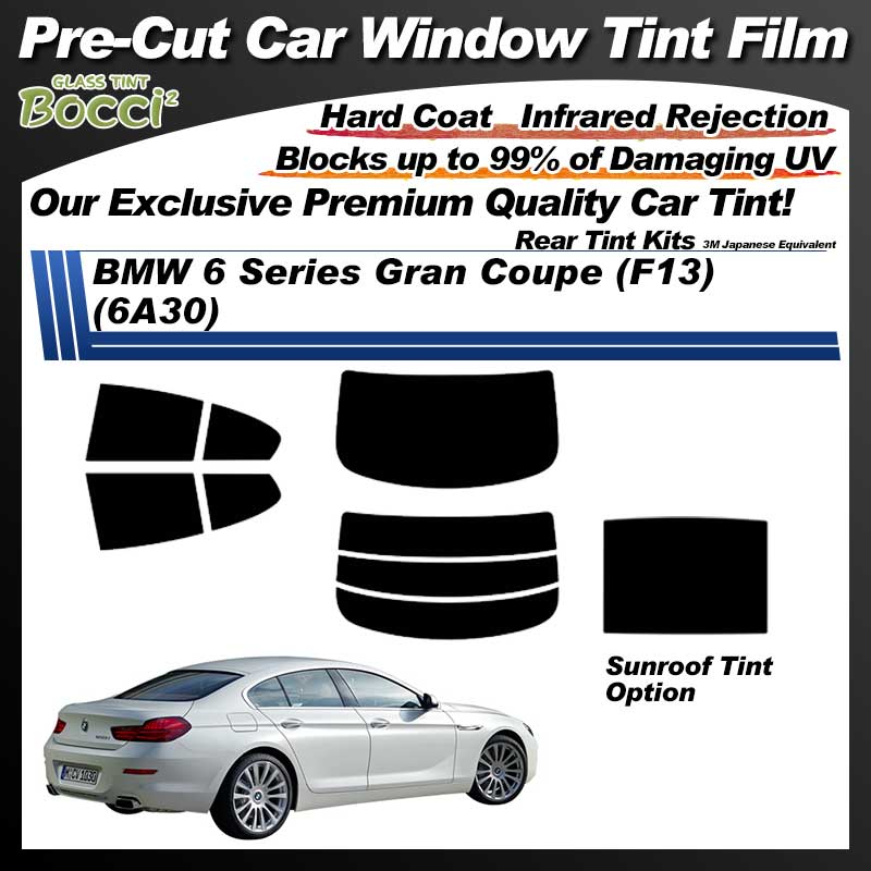 BMW 6 Series Gran Coupe (F13) (6A30) With Sunroof Pre-Cut Car Tint Film UV IR 3M Japanese Equivalent