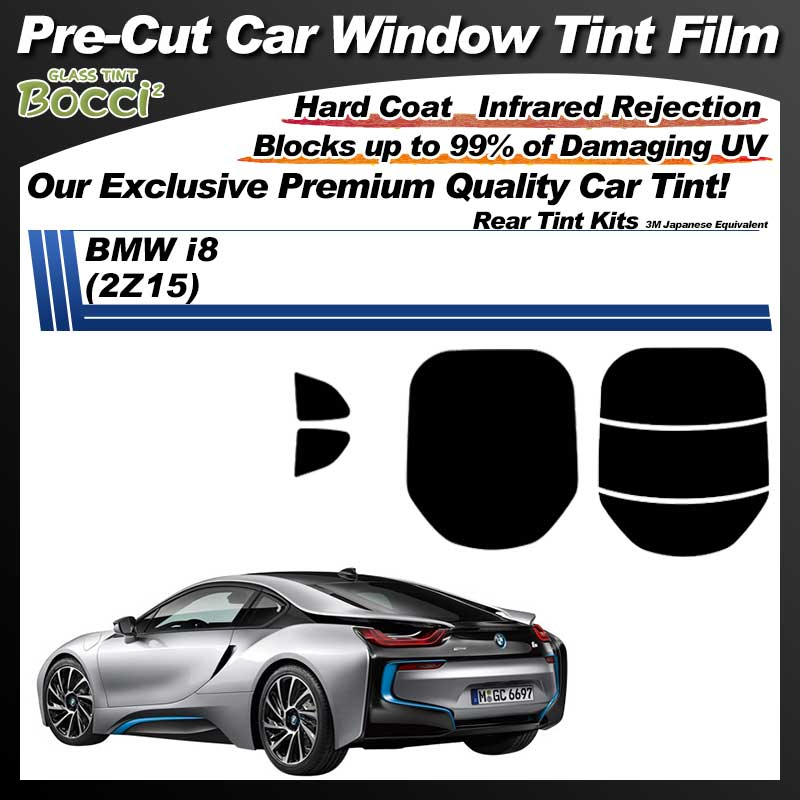 BMW i8 (Eight) (2Z15) Pre-Cut Car Tint Film UV IR 3M Japanese Equivalent