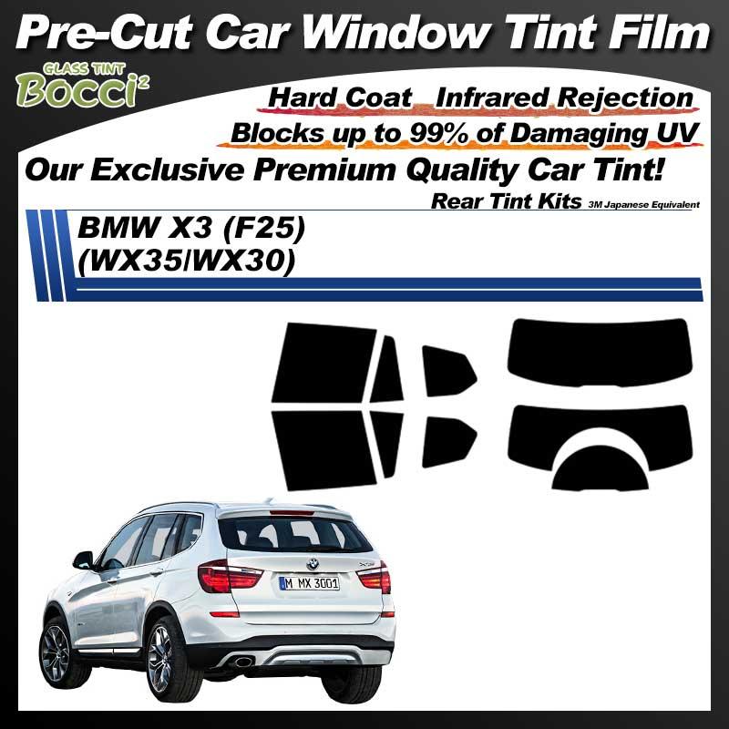 BMW X3 (F25) (WX35/WX30) Pre-Cut Car Tint Film UV IR 3M Japanese Equivalent